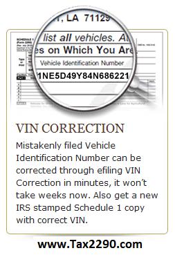 efile VIN Correction