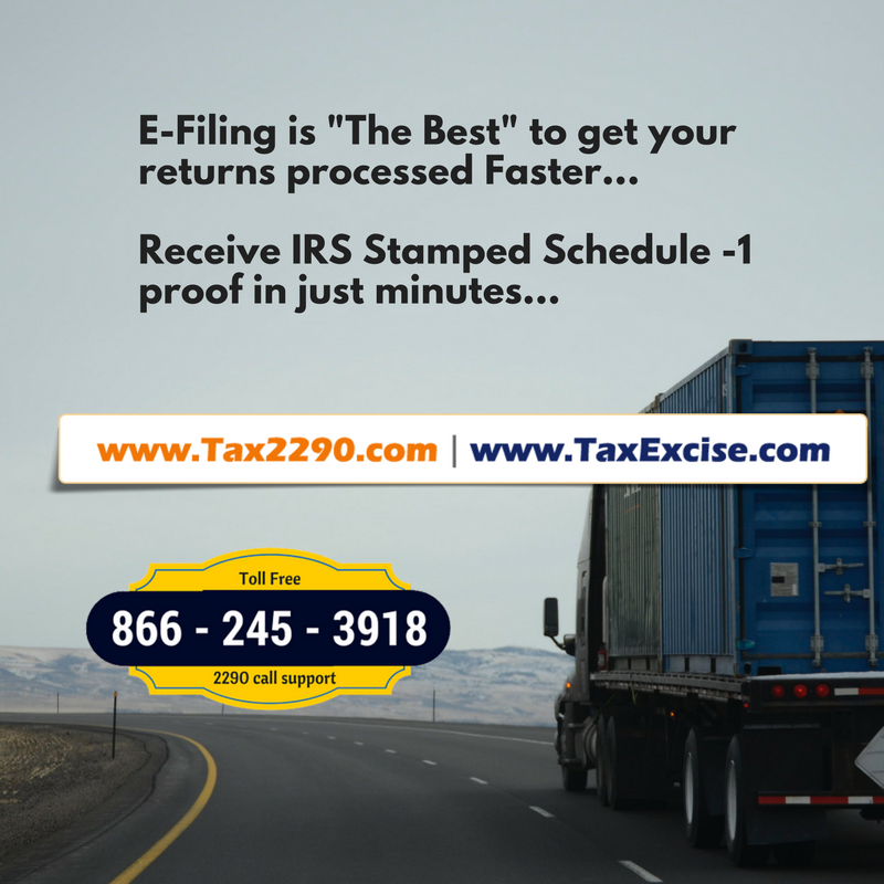 Tax Form 2290 efile for 2021 at Tax2290.com
