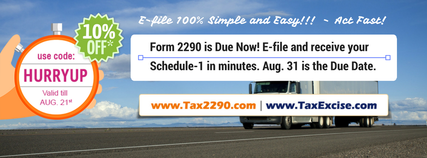 Form 2290 Due Aug 31- TE(1)