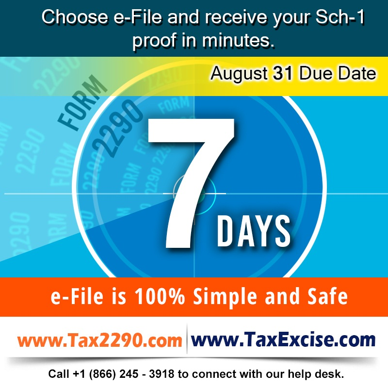 Less than a Week left to E-file HVUT Form 2290, without IRS