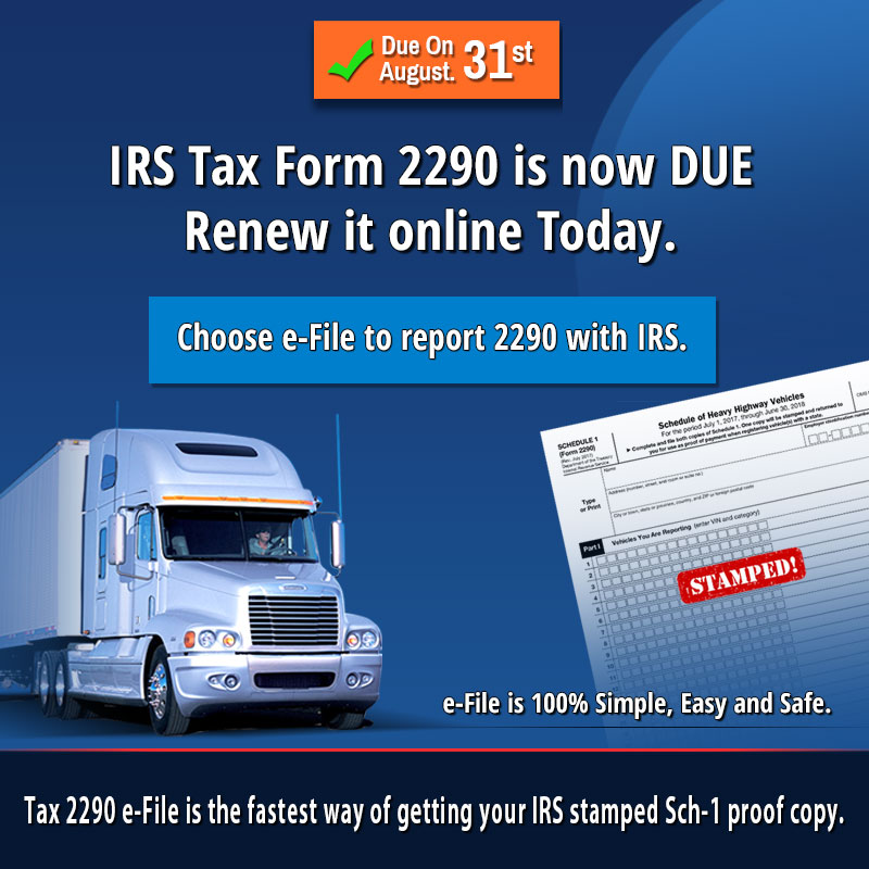 2290 form 2018  Only Three weeks Left to E-file Form 12 for Tax year 12 ...