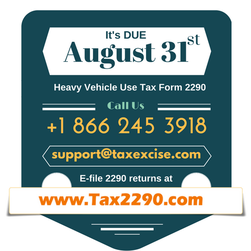August 31 - Tax 2290 Due Date
