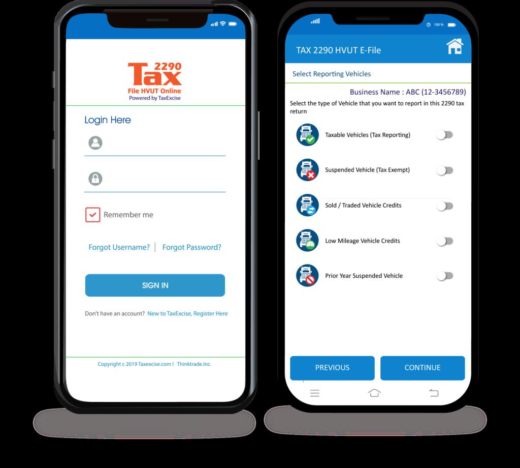 Tax2290 Mobile App