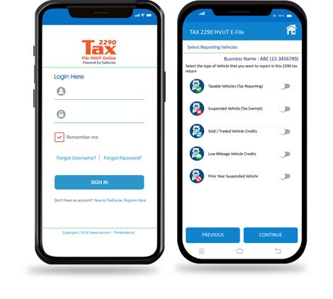 Form 2290 efile Mobile App