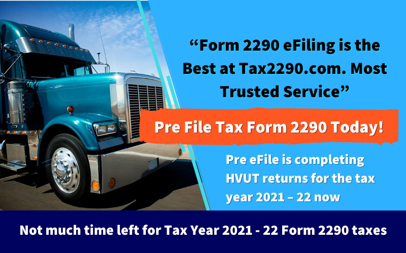 Tax 2290 for 2021 Tax Year
