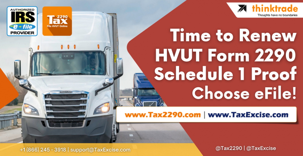 Truck Tax Form 2290 efile for 2021