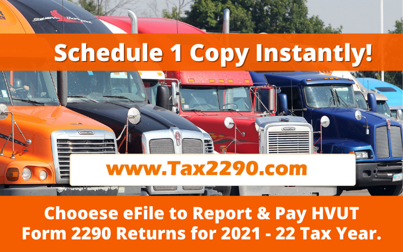 Tax2290 eFile for 2021