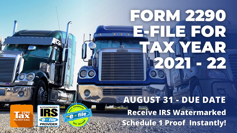 tax 2290 for 2021 - 2022