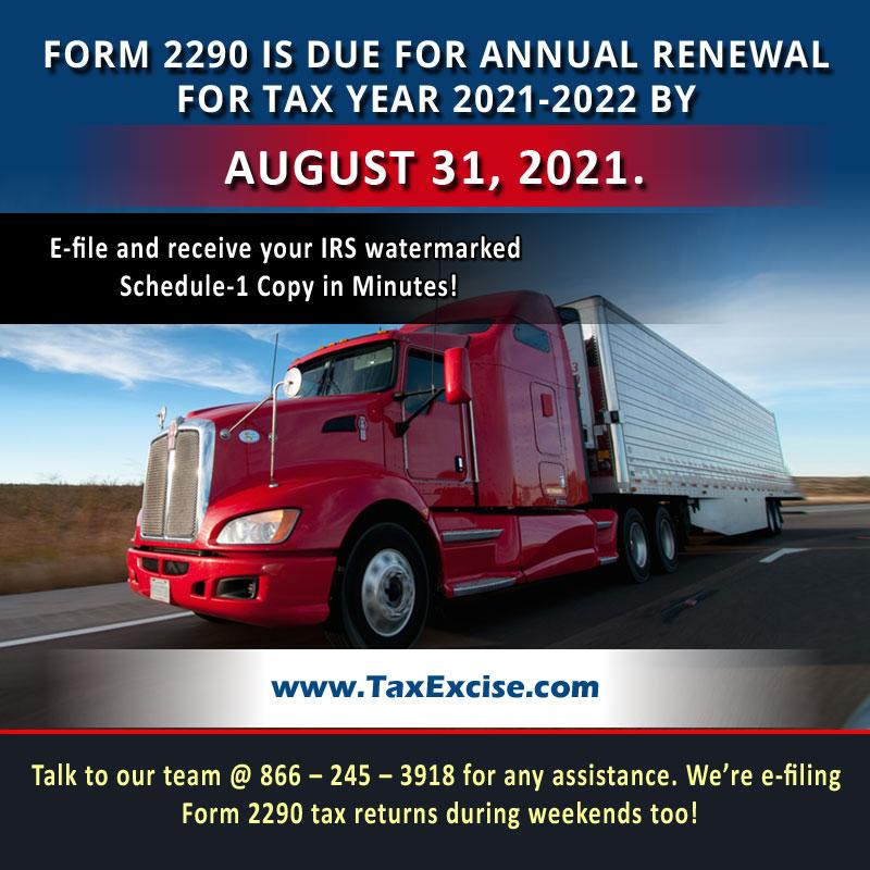 Form 2290 eFile for 2021